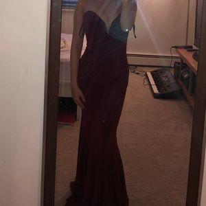 Jovani Burgundy Dress Size 0